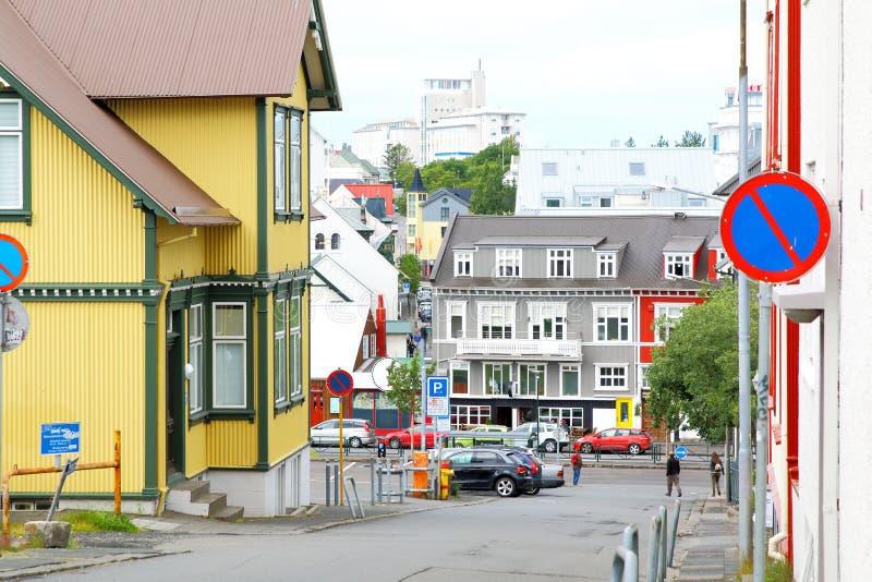 Kolorowi domy, Reykjavik, Iceland fotografia royalty free