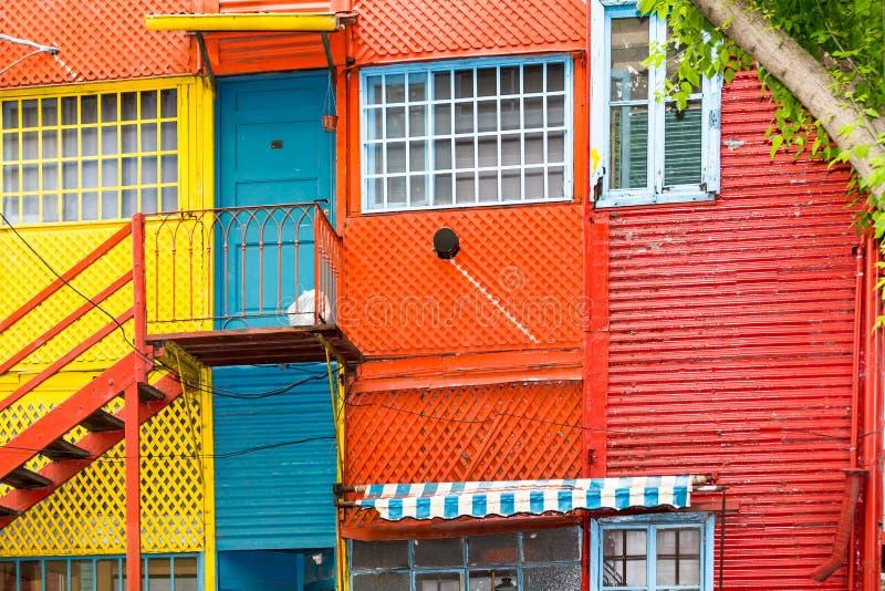 Kolorowi domy w losie angeles Boca w Buenos Aires, Argentyna obrazy stock