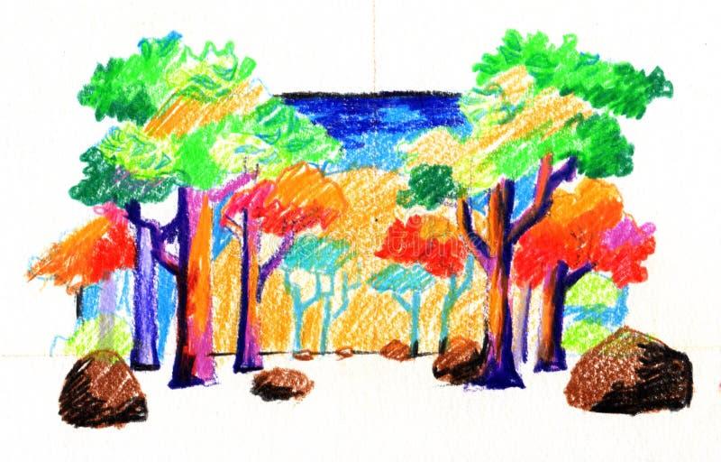 Kolorowi drewna obraz royalty free