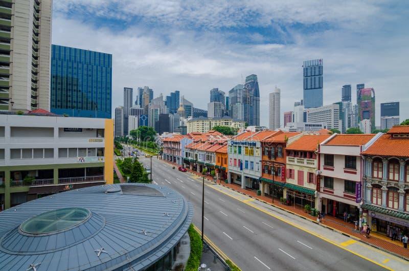 Kolorowi dziedzictwo budynki przy Singapur Chinatown zdjęcia royalty free