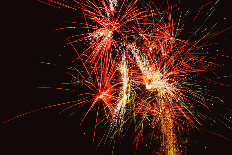 Kolorowi fajerwerki zdjęcie royalty free