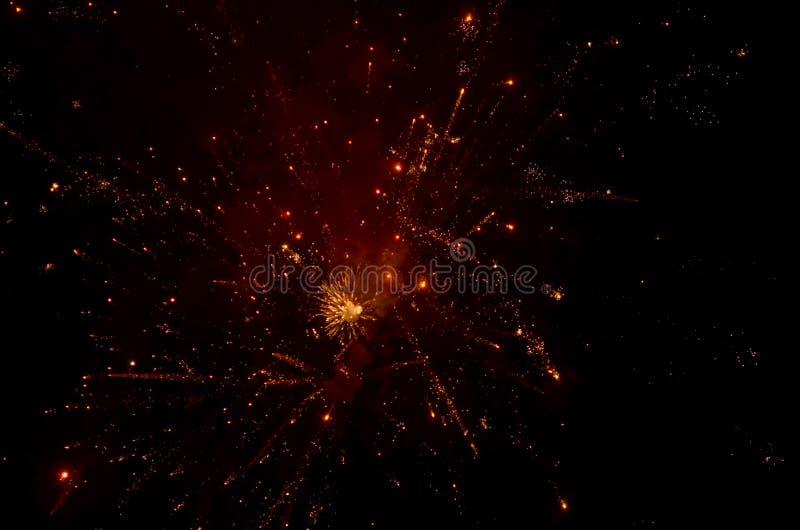 Kolorowi fajerwerki na Ciemnym tle fotografia stock