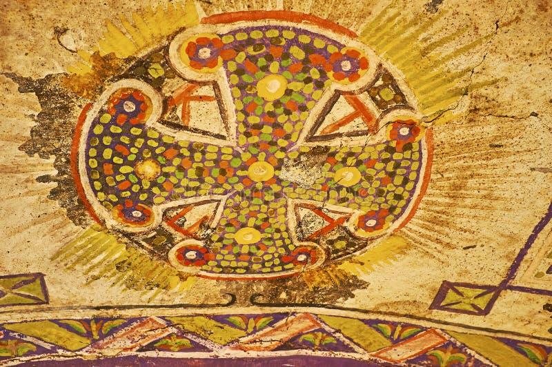 Kolorowi frescoes w St Catherine monasterze, Synaj, Egipt zdjęcie stock