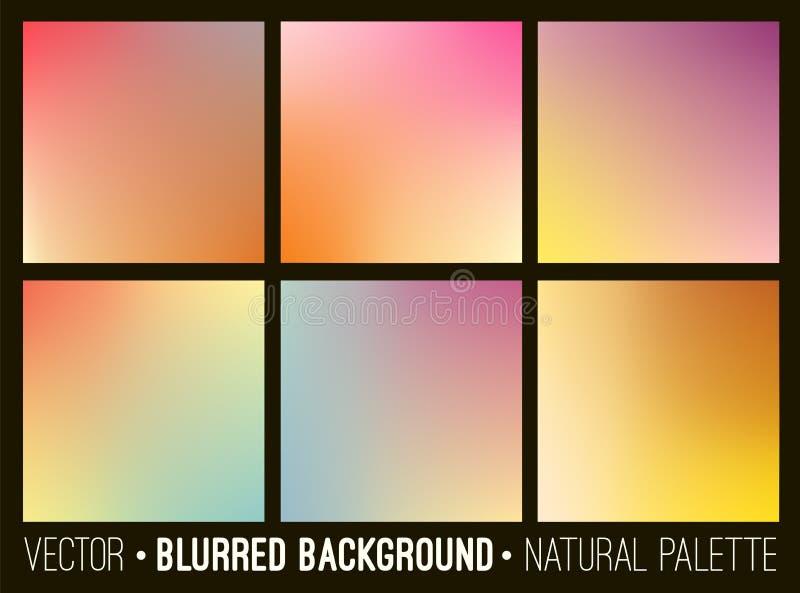 Kolorowi gradientowi abstrakcjonistyczni tła ustawiający Gładki szablonu projekt dla kreatywnie wystroju pokrywy, sztandary i str ilustracja wektor