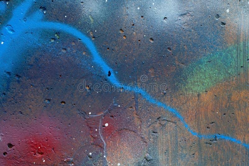 Kolorowi graffiti na betonowym tle, pojęcie ścienne inskrypcje, kopii przestrzeń, zdjęcia stock