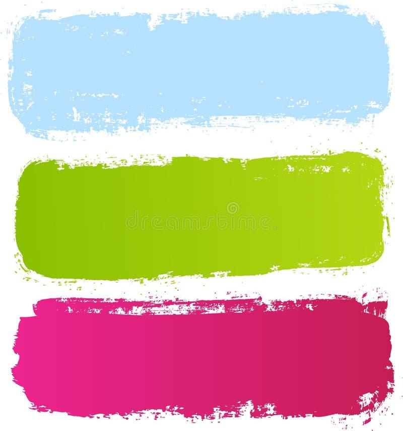 Kolorowi grunge sztandary ilustracji