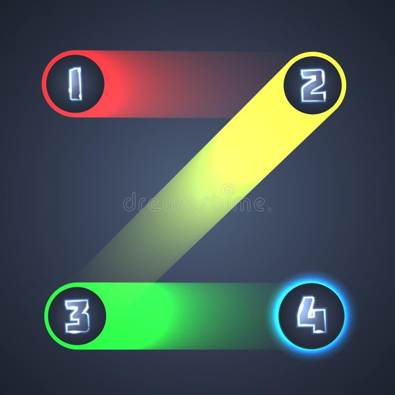 Kolorowi Iluminujący Błyszczący Infographic elementy. ilustracji