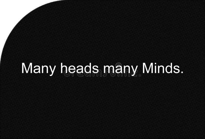 Kolorowi ilustracyjni idiomy i przysłowia, Wiele głowy wiele umysły ilustracja wektor