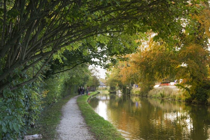 Uroczysta zrzeszeniowa kanałowa jesień berkhamsted obraz royalty free