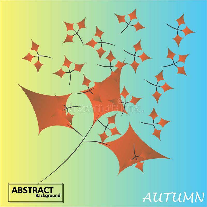 Kolorowi jesieni tła z spada liśćmi royalty ilustracja