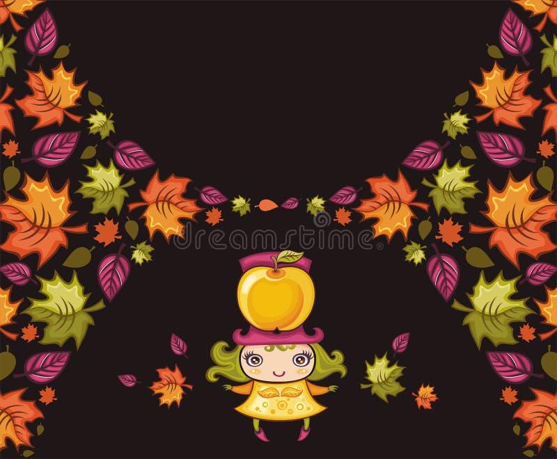 kolorowi jesienni sztandary ilustracja wektor