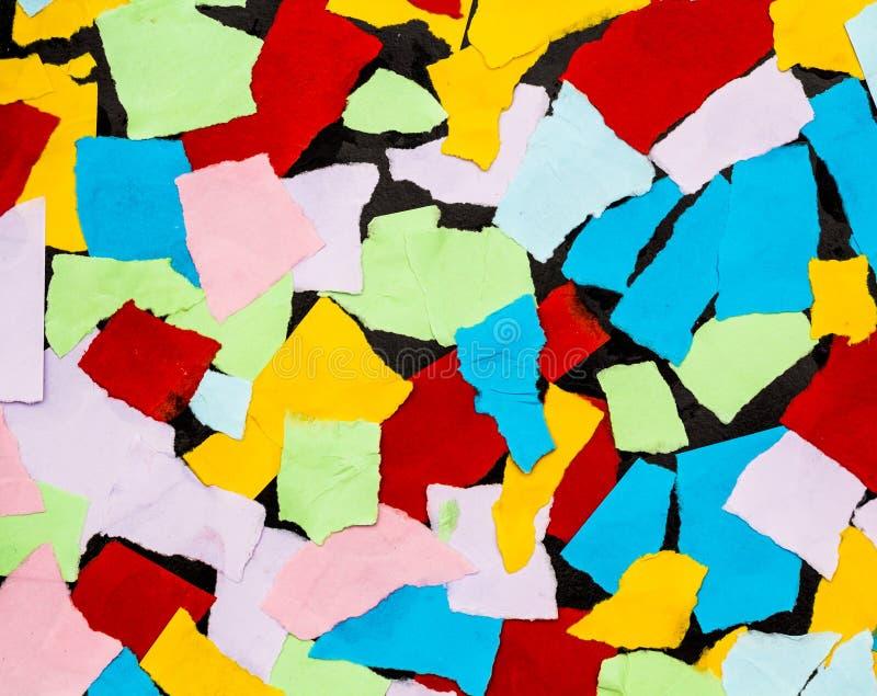 Kolorowi kawałki papieru dla tła fotografia royalty free
