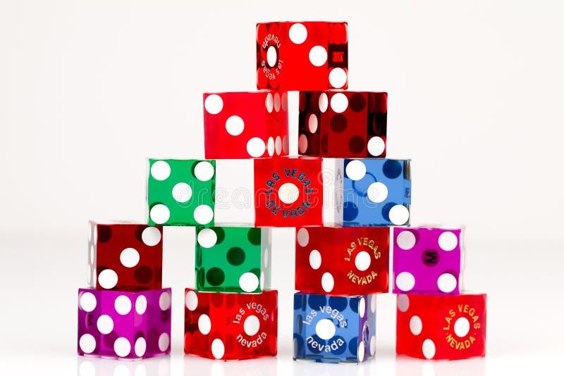 kolorowi kostka do gry hazardu las Vegas zdjęcie stock