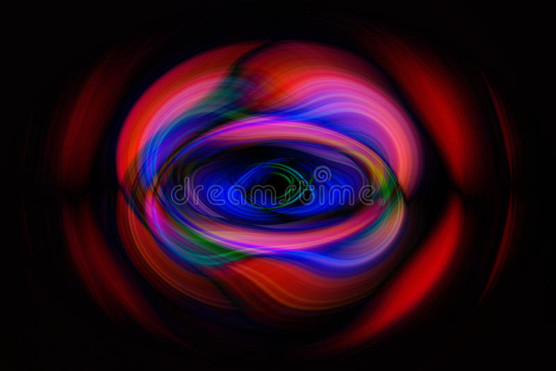 Kolorowi kształty na ciemnym tle obraz royalty free