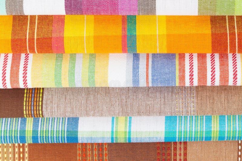 kolorowi kuchenni ręczniki zdjęcia royalty free