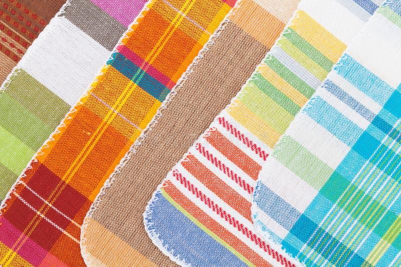 kolorowi kuchenni ręczniki obraz stock