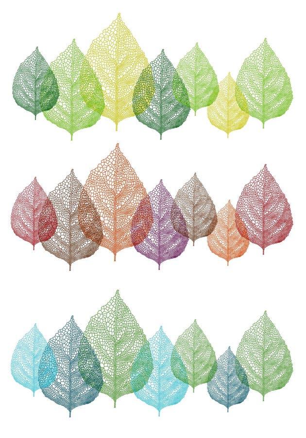 Kolorowi liście, wektoru set royalty ilustracja