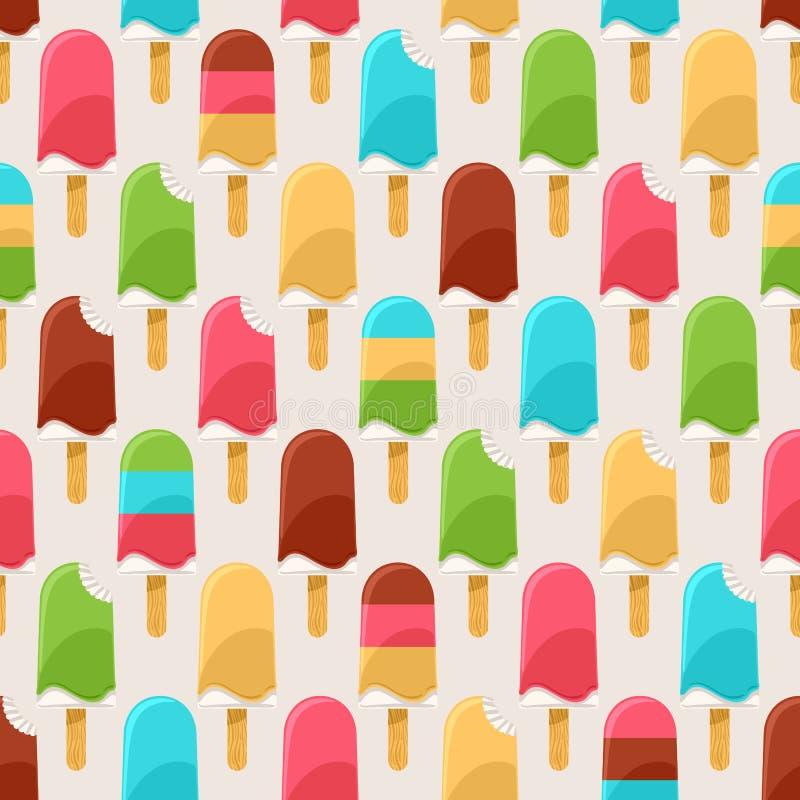 Kolorowi lody - 2 ilustracja wektor