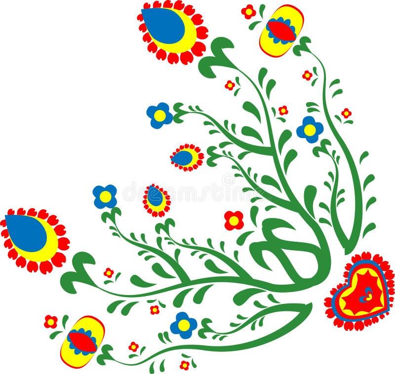 Kolorowi lud kwiaty royalty ilustracja