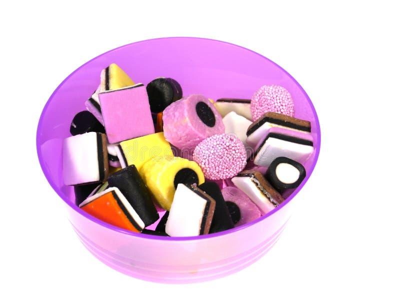 Kolorowi lukrecjowi cukierki obrazy royalty free
