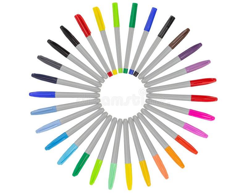 Kolorowi markiery - barwiony set fotografia stock