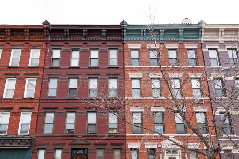 Kolorowi miasto budynki obraz royalty free