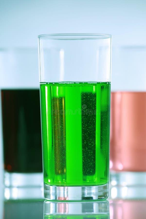 kolorowi napojów szkła trzy obrazy stock