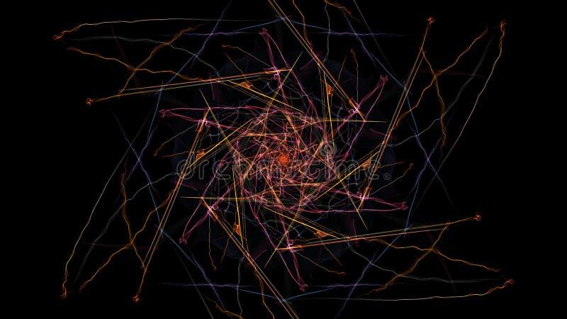 Kolorowi neonowi abstrakcjonistyczni symetryczni światła fotografia royalty free