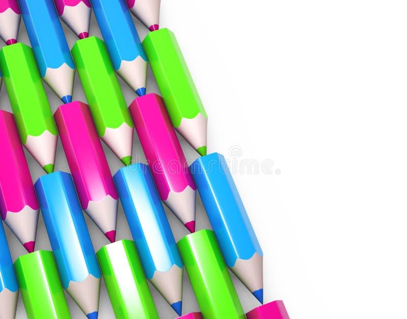 Download Kolorowi ołówki ustawiają ilustracji. Ilustracja złożonej z pióra - 13332346