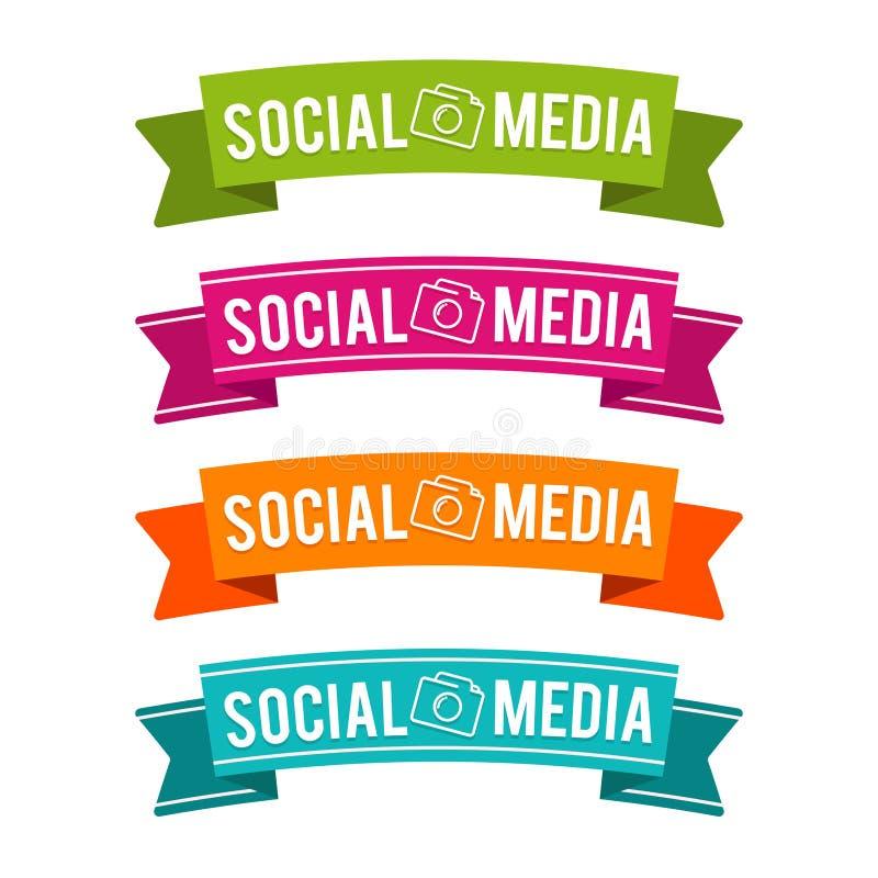 Kolorowi Ogólnospołeczni medialni faborki Eps10 Wektor ilustracji