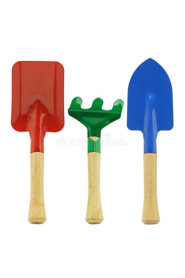 kolorowi ogrodowi narzędzia obraz stock