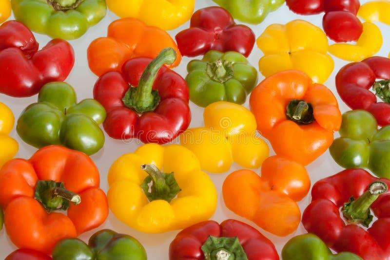 kolorowi pieprzowi wierzchołki obraz stock