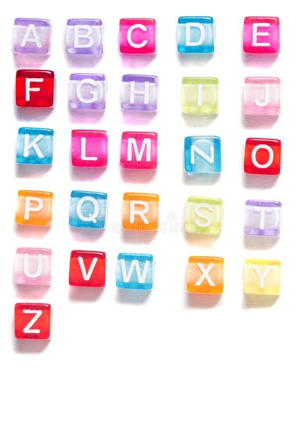 Kolorowi plastikowi koraliki z listami obrazy royalty free
