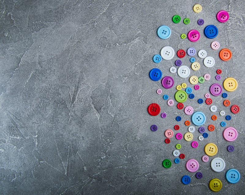 Kolorowi plastikowi odzież guziki fotografia royalty free