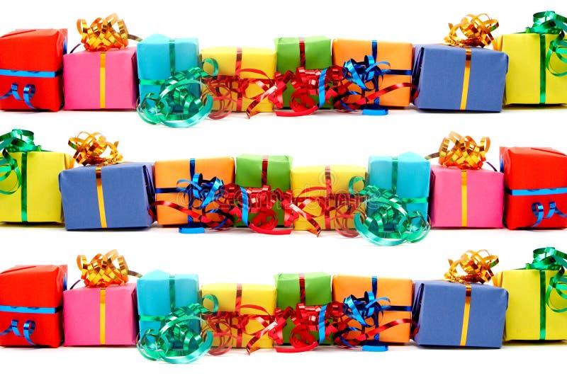 Kolorowi prezenty zdjęcia stock