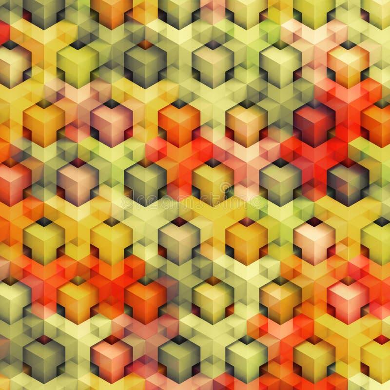 Kolorowi rocznika 3D pudełka royalty ilustracja