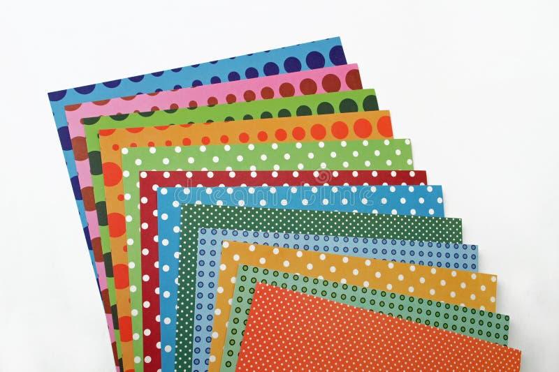 Kolorowi scrapbooking papierów prześcieradła fotografia stock
