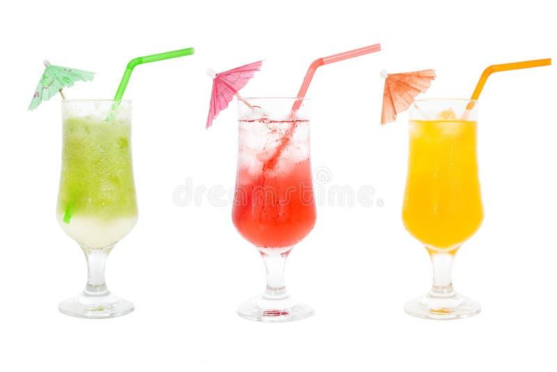 Kolorowi soków koktajle inkasowi zdjęcie stock