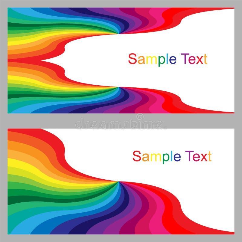Kolorowi szablony dla Odwiedzać karty, etykietki, Fliers, sztandary, odznaki, plakaty, majcherów i Reklamowych akcj, Kolorowy Abs ilustracji