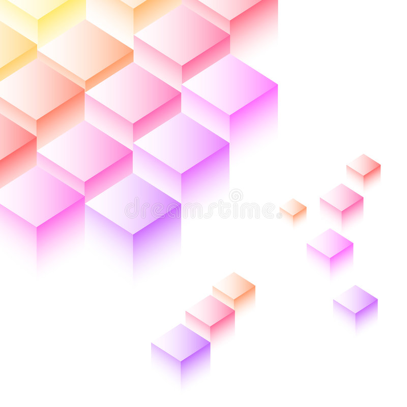 kolorowi sześciany ilustracja wektor
