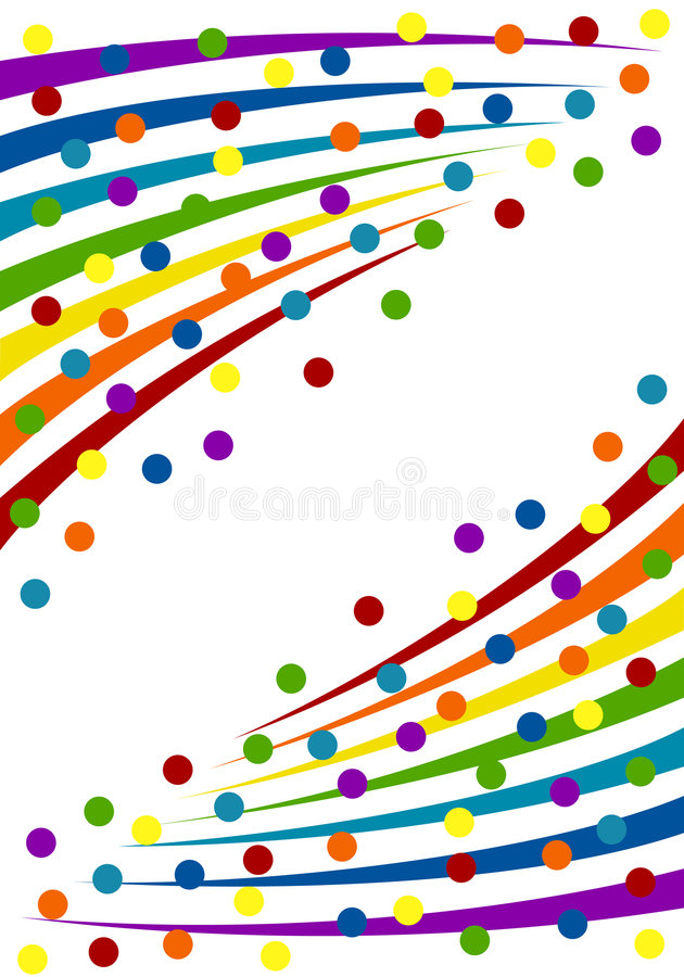 kolorowi tło confetti ilustracji