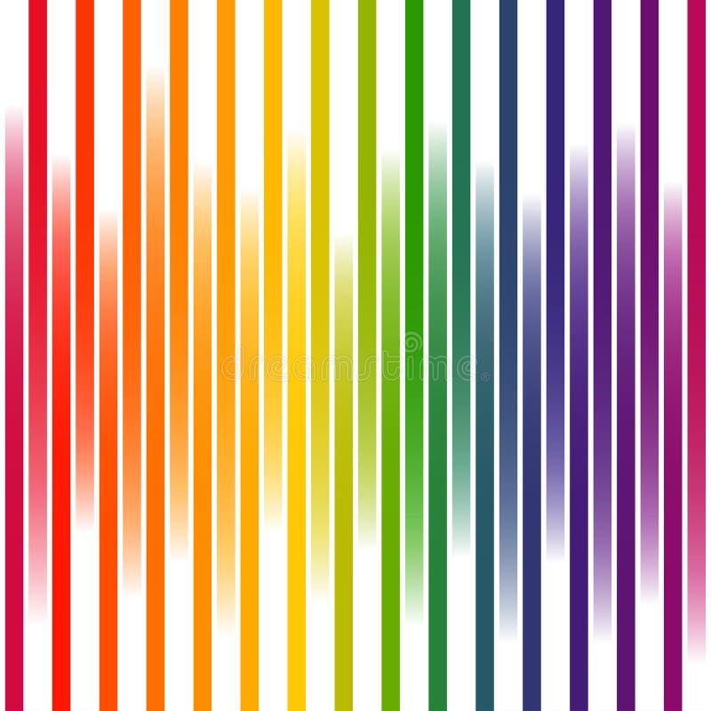 Kolorowi tło lampasy na bielu ilustracji