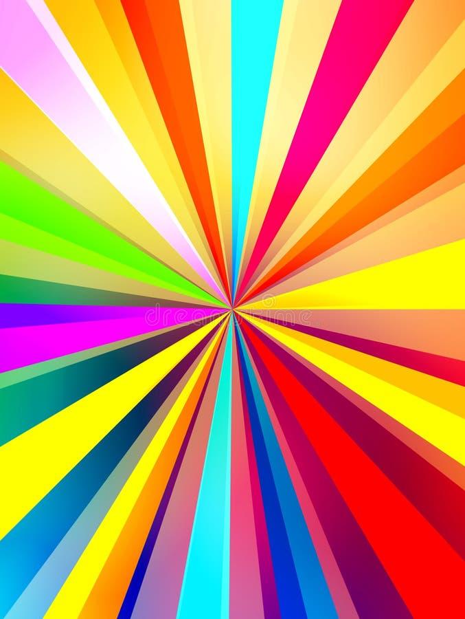 kolorowi tło promienie ilustracji
