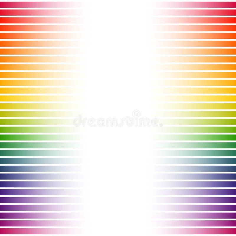 Kolorowi t?o lampasy na bielu ilustracji