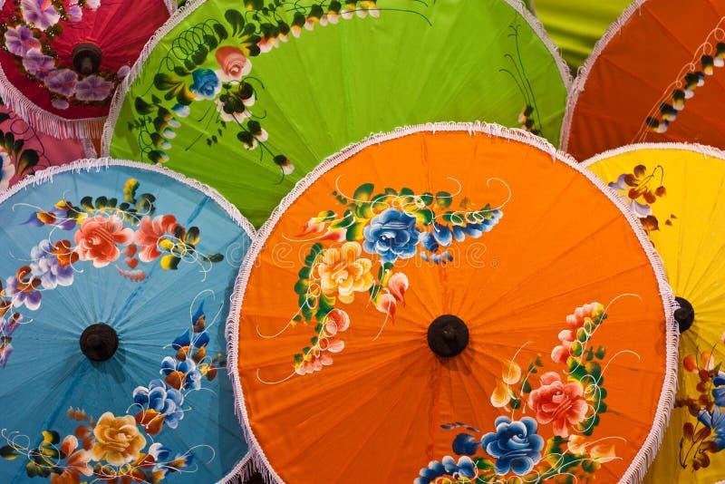 kolorowi tajlandzcy parasole zdjęcia stock