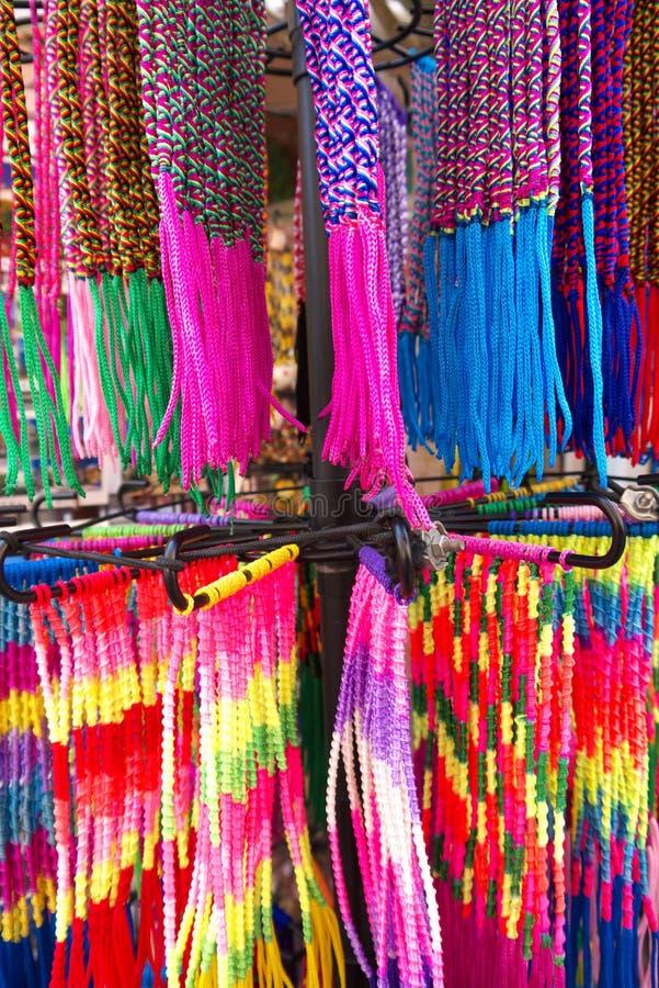 Kolorowi Tekstylni nadgarstków zespoły obrazy royalty free