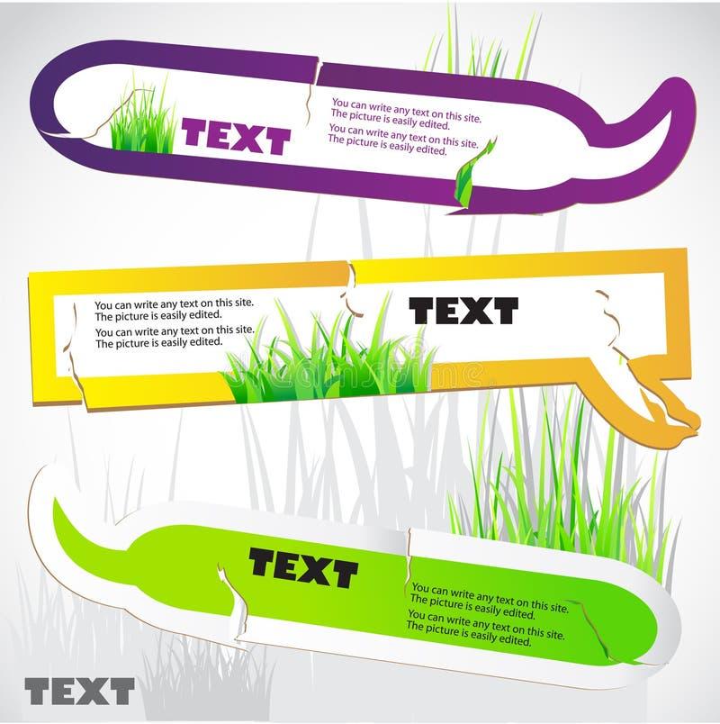 kolorowi trawy zieleni mowy majchery obraz stock