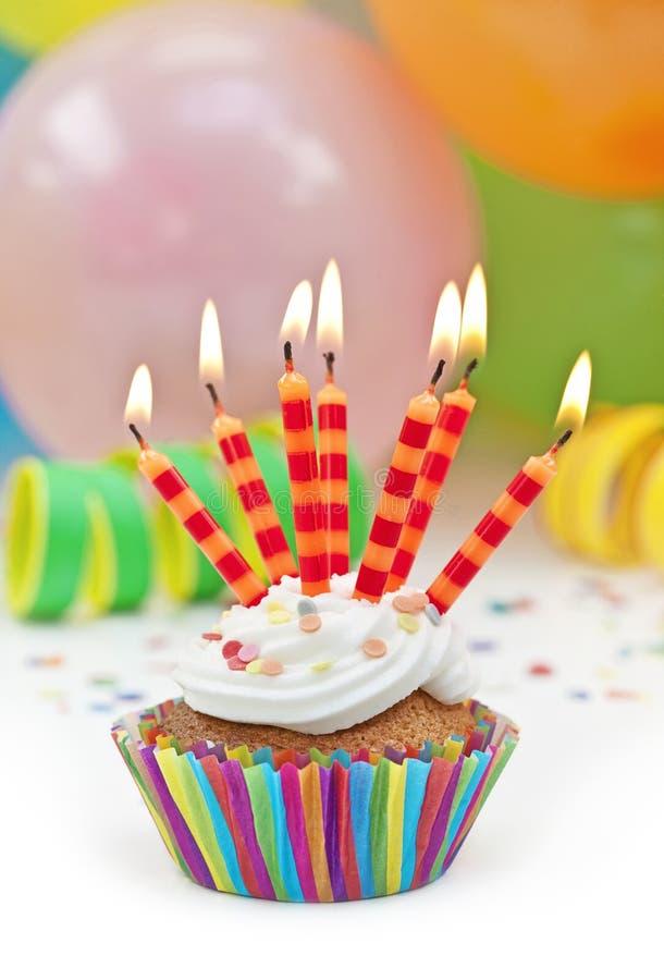 kolorowi urodzinowi candels fotografia royalty free