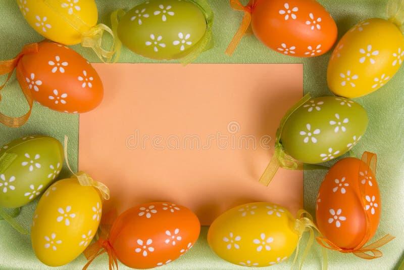 Kolorowi Wielkanocni jajka zdjęcia royalty free