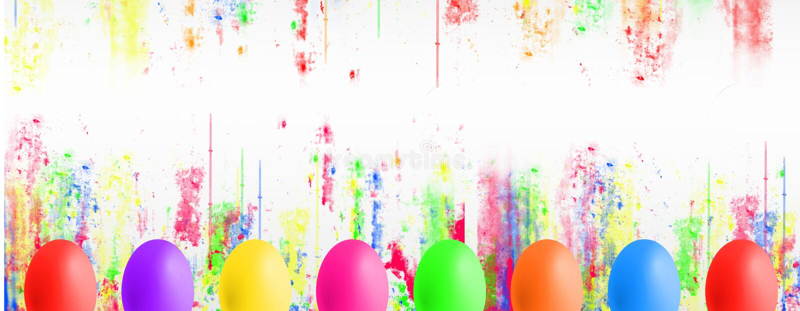 Kolorowi Wielkanocni jajka z copyspace royalty ilustracja